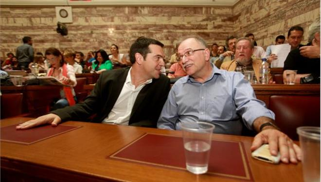 Efforts to mitigate internal party reactions in Syriza