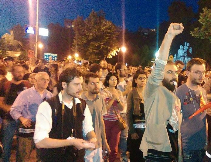 Protests continue in Skopje about the resignation of the entire government