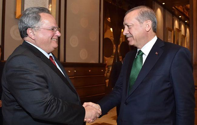 In good spirit the meeting between Kotzias and Erdogan in Ankara