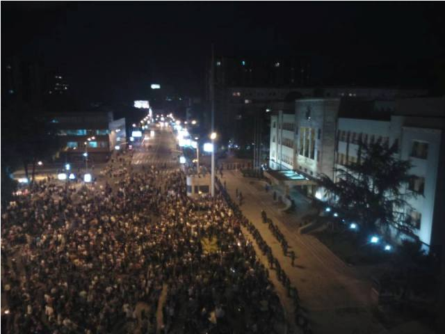 Second night of protests in Skopje, several small incidents registered
