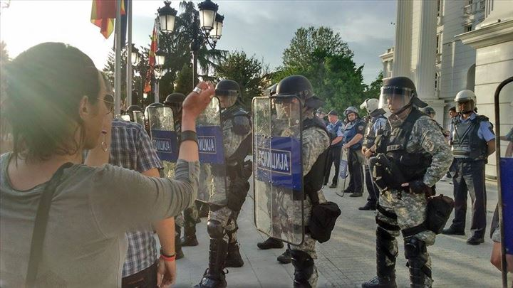 Reactions in Skopje after the protests