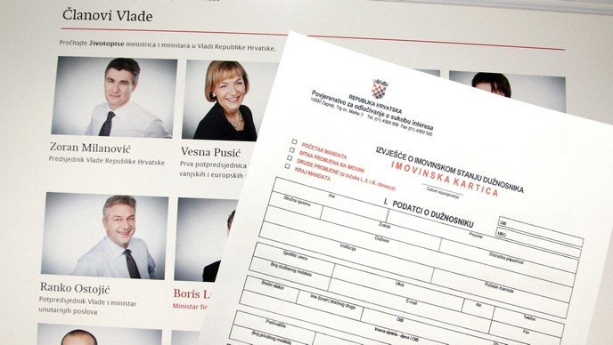 Officials' asset information no longer available to the Croatian public