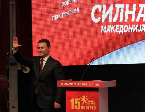 Gruevski is reelected leader of VMRO-DPMNE, opposition demands his resignation from the government