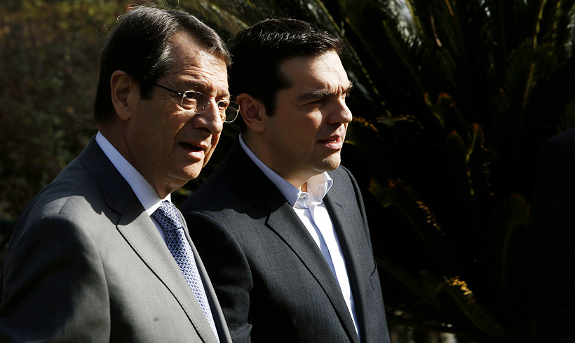 Anastasiades discusses Greek Crisis with Tsipras and Merkel