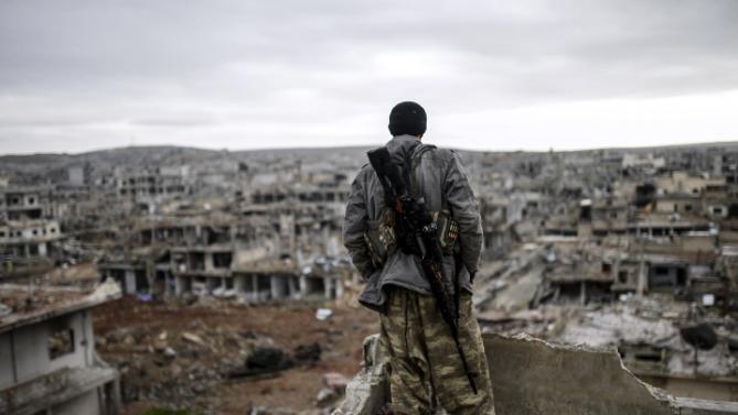Jihadists suicide attack paint Kobani with blood