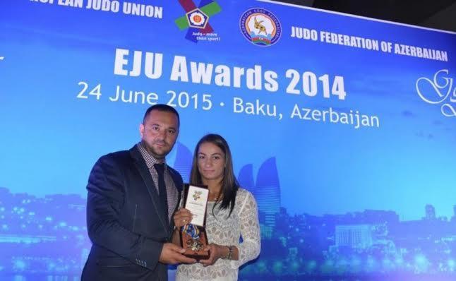 Majlinda Kelmendi awarded as the best judo fighter in Europe