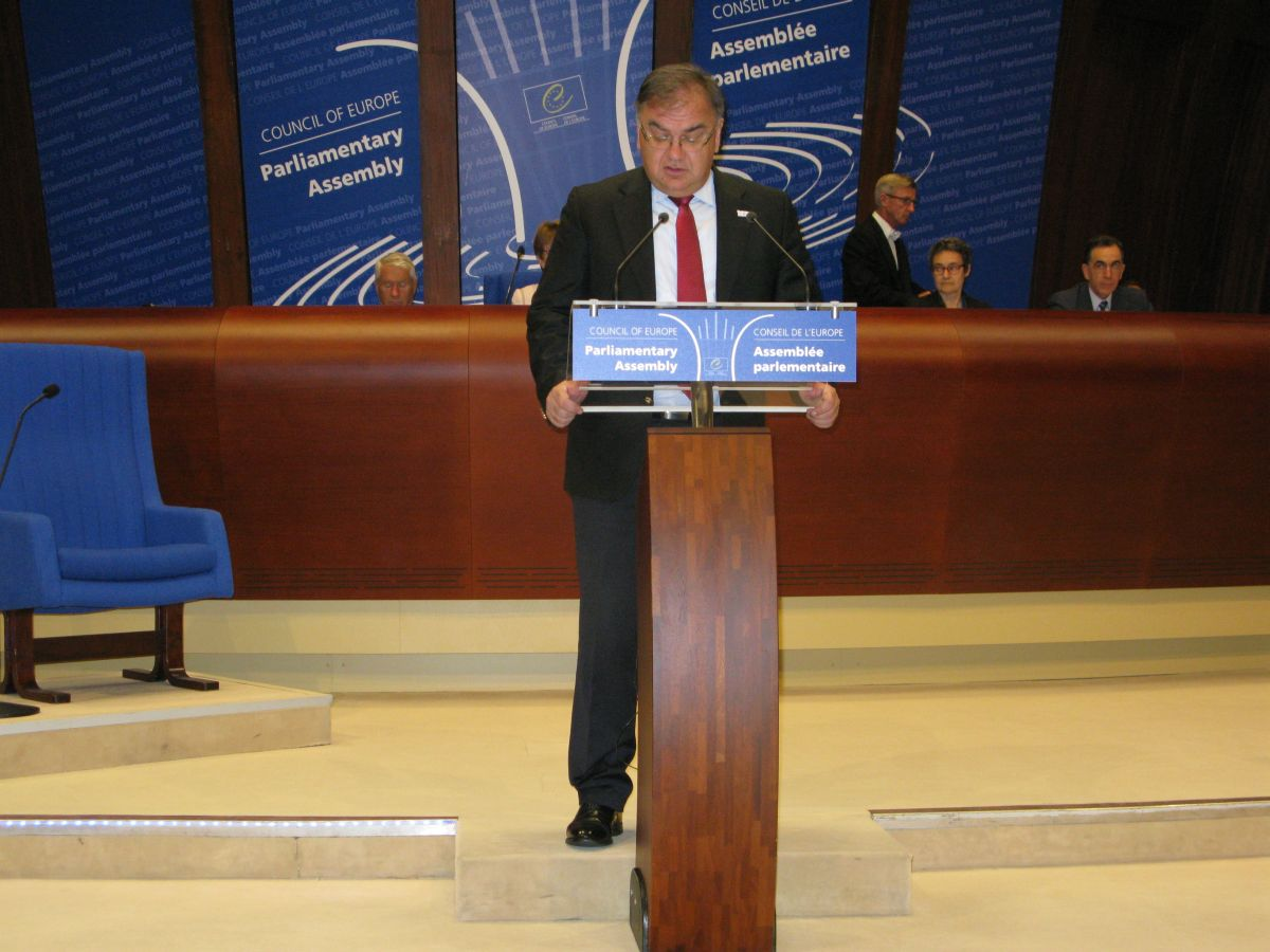 Ivanic addressed the Parliamentary Assembly of the Council of Europe