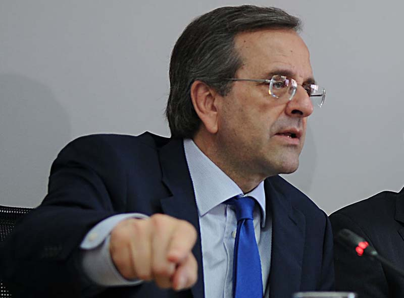 Samaras: The stay of Greece in the euro is nonnegotiable
