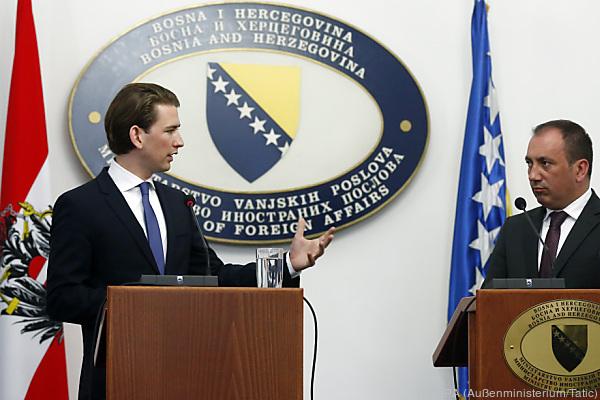 Sebastian Kurz on an official visit in Sarajevo