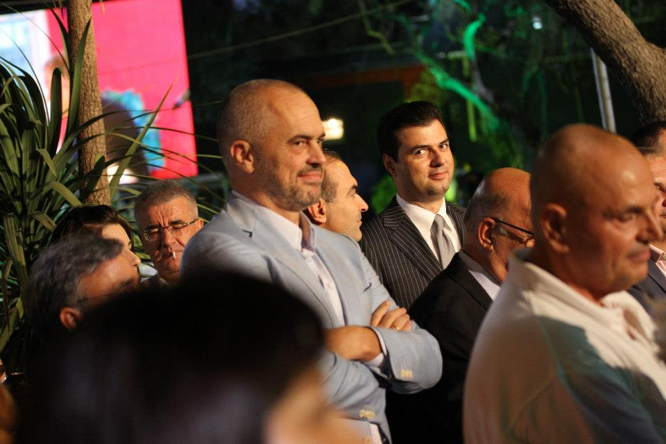 Albanian political leaders curse during the electoral campaign