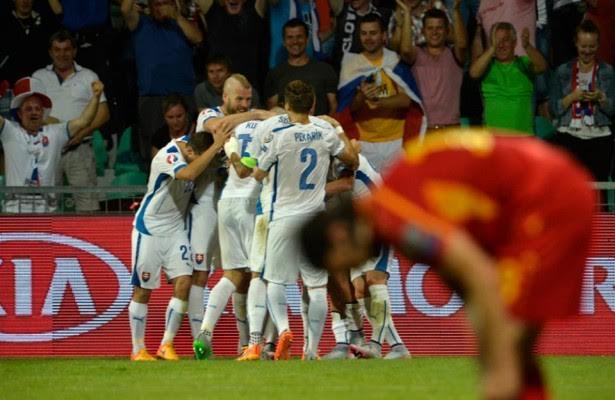 FYROM's national football side defeated in Slovakia