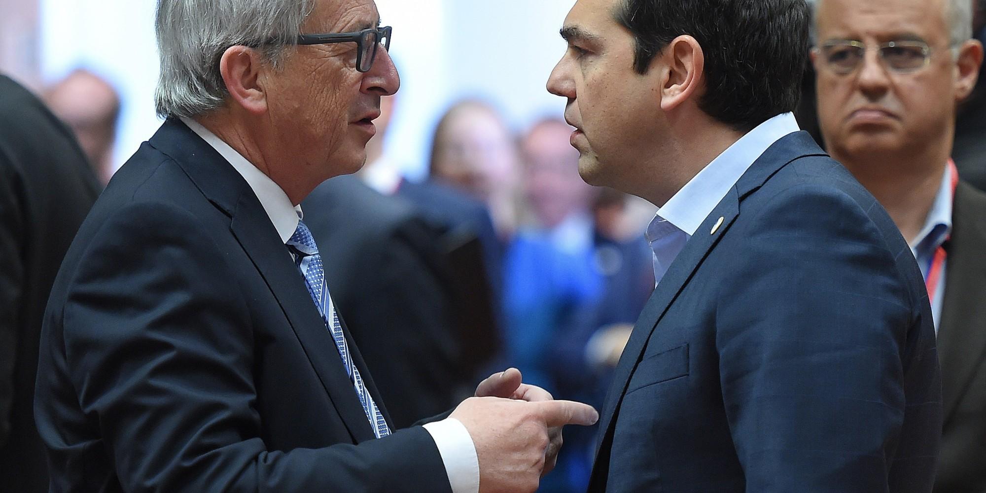 Tsipras meets EU's J.C. Juncker for crunch talks in Brussels