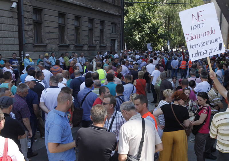 Demonstrations against Labor law changes in Sarajevo