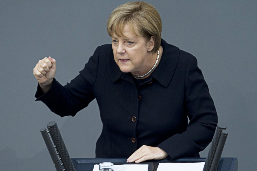 German chancellor Angela Merkel visits Albania