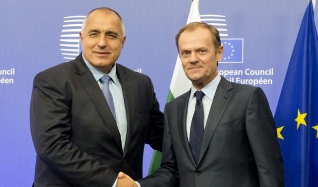 Borissov tells Tusk: Stability of EU, euro zone, of paramount importance to Bulgaria