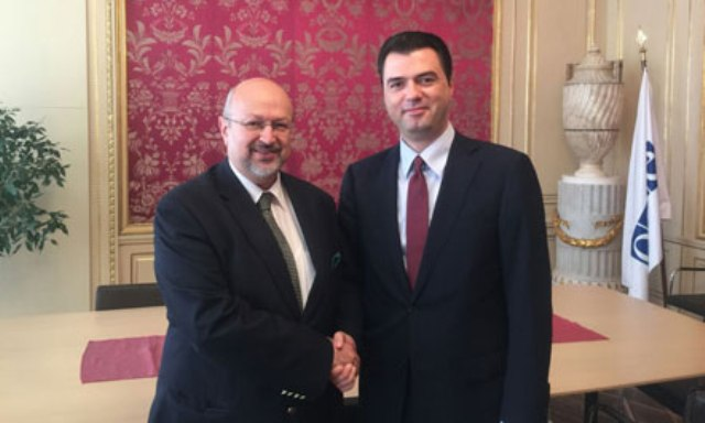 Albanian opposition leader discuss election standards with the head of OSCE
