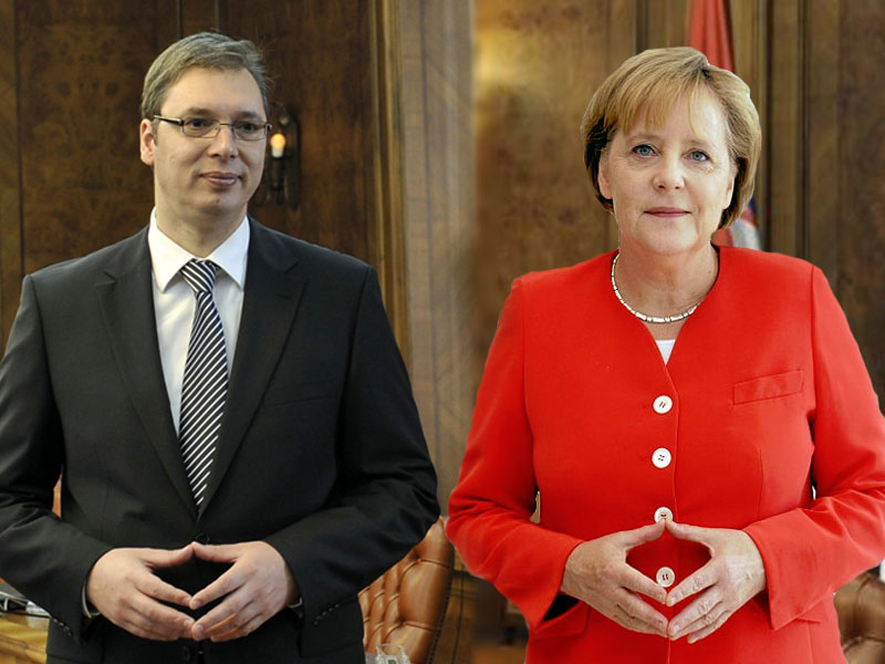 Merkel will praise Serbia, Vucic says