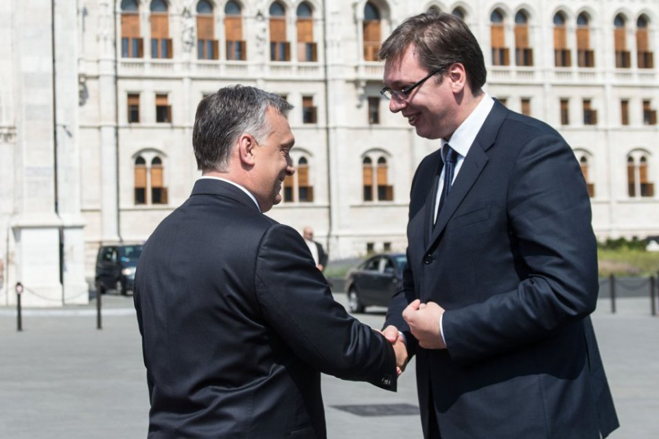 Border fence 'not against Serbia', Orban and Vucic say