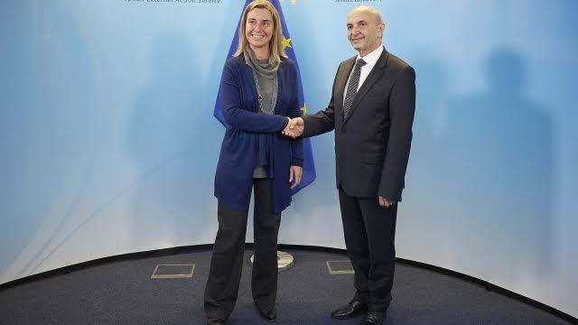 Head of EU diplomacy starts her agenda of meetings