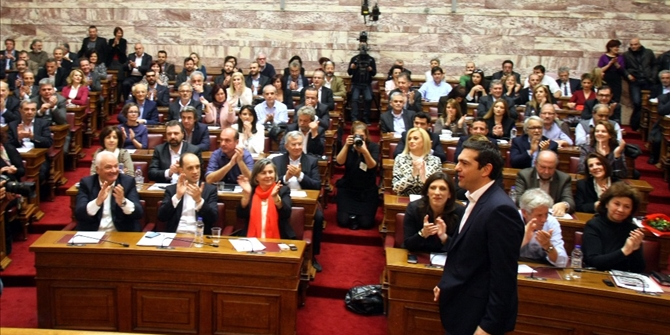 Seventeen SYRIZA MPs send message of unity