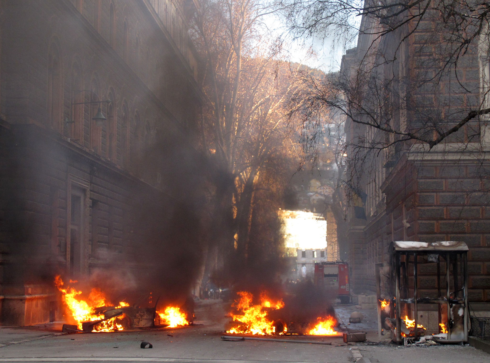 Two accused for the fire on the BiH Presidency building