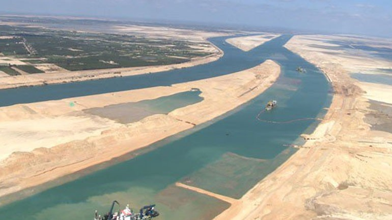 Alexis Tsipras attends the inauguration of the new Suez Canal