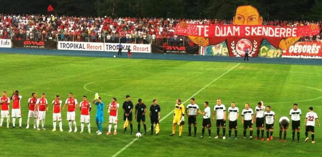 An Albanian football club reaches the Champions League play-offs for the first time