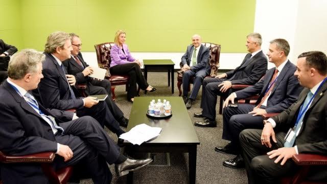 PM Mustafa meets the head of the EU diplomacy