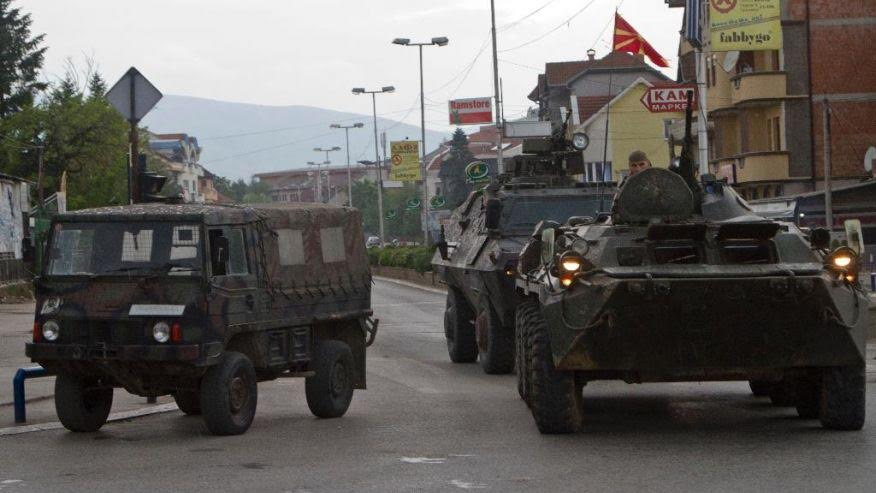 Members of security forces demand the investigation of the events in Kumanovo.
