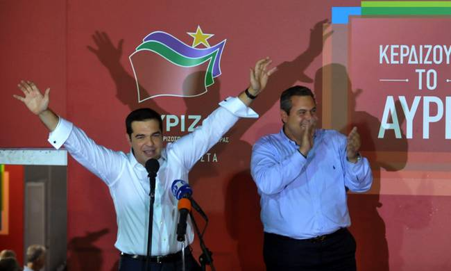 Syriza wins Greek snap election; coalition with ANEL announced