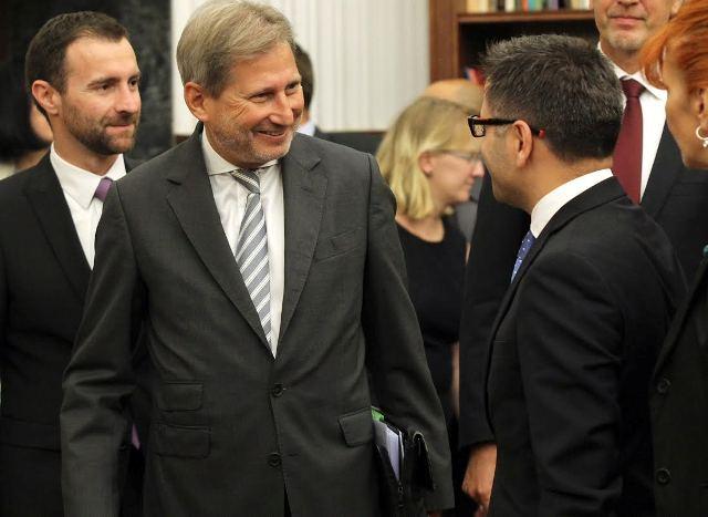 EU Enlargement Commissioner visits Skopje