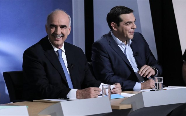 Tsipras, Meimarakis looking to convince undecided voters in televised debate