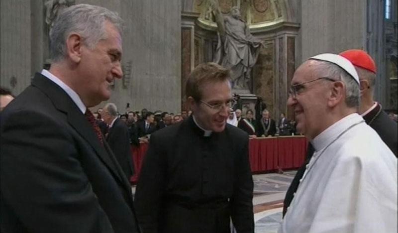 Nikolic meets Pope: Vatican will not recognize Kosovo