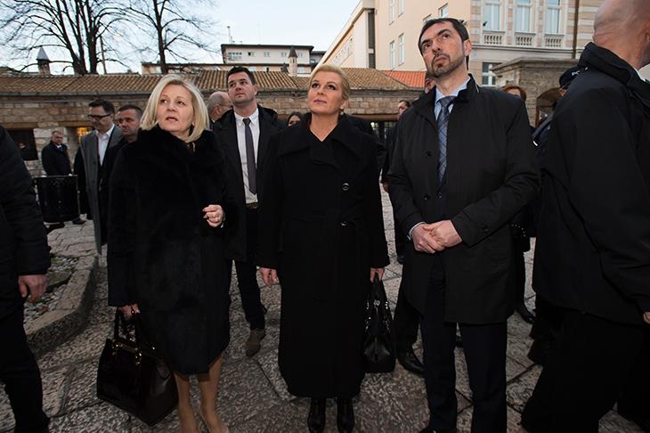 Croatian president Grabar Kitarovic in BiH