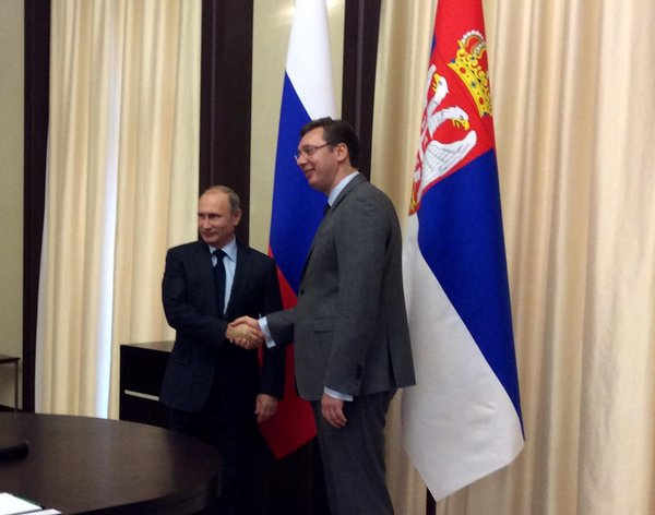 Putin and Vucic in Kremlin: Support to stability in the Balkans