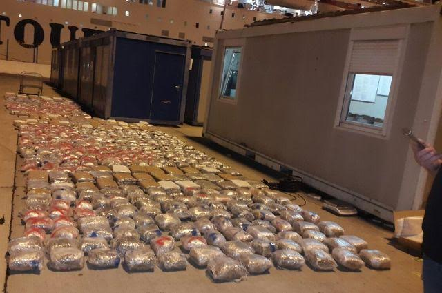 "Operation ""Poker"" in the Port of Durres leads to the seizure of 1 ton of marijuana"