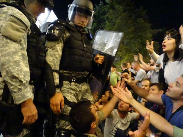 Protests take place in Skopje in relation to the death of a man