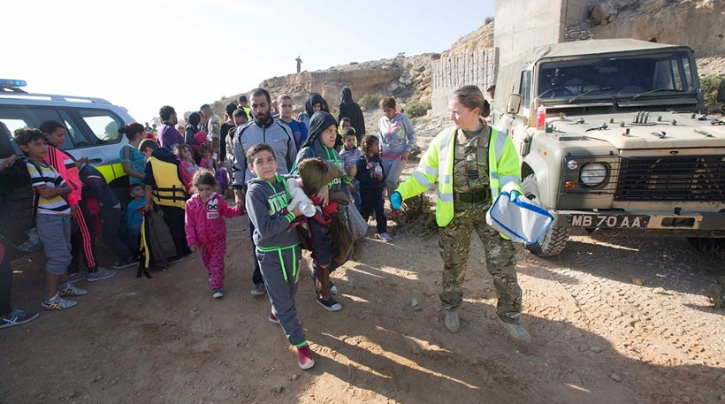 114 refugees arrived in RAF base in Cyprus