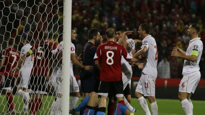 Albania defeated by Serbia two goals to nil in Elbasan Arena