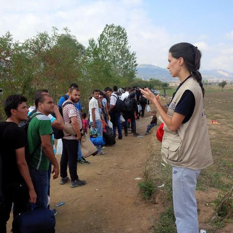 Large numbers of refugees continue to enter FYROM