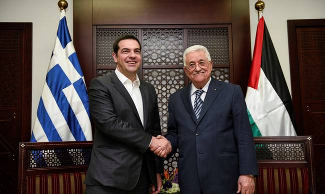 Tsipras: We support the solution of two states on the Palestinian issue