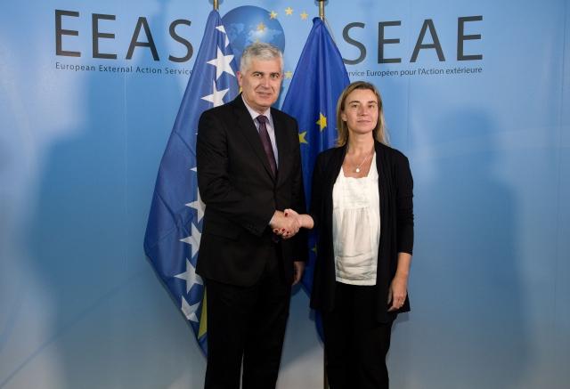 Mogherini – Covic meet in Brussels