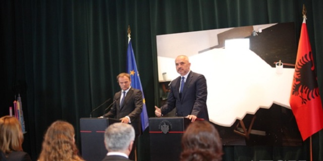 Rama and Tusk discuss on issues of terrorism and refugees