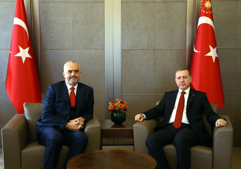 Albanian PM meets Turkish President