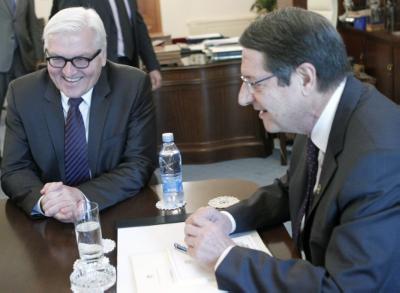 Anastasiades meets with German FM