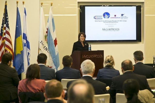 President Jahjaga in the Chicago conference: We need the help of our allies to address economic challenges