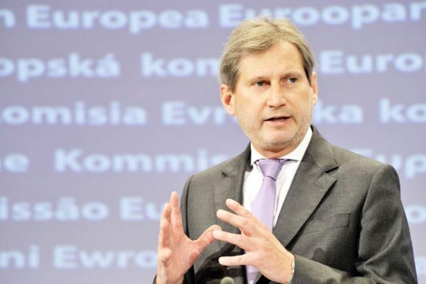 EU commissioner Hahn sends a letter to the leaders of the four main political parties