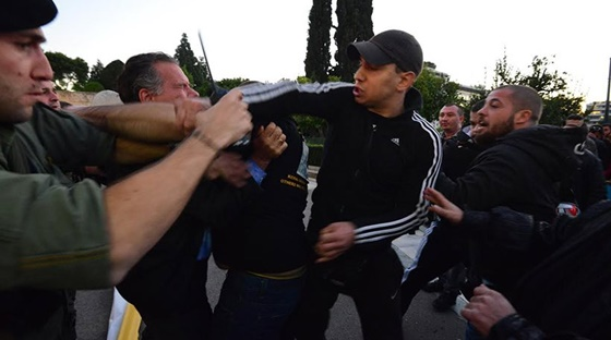 New Democracy MP attacked during rally