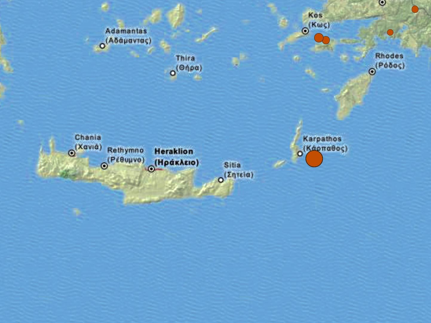 Earthquake in south Aegean