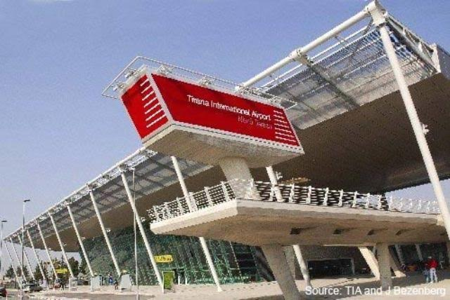 Albanian government says that it has broken the monopoly of the only international airport